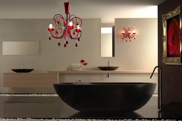lampadario per bagno : illuminazione bagno: faretti, plafoniere, lampadari, specchio