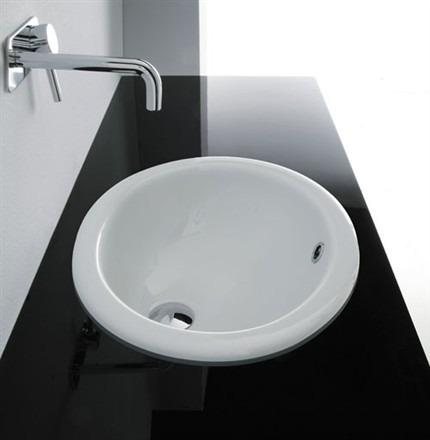 Lavabi incasso integrati contrasti eleganza - Lavandino da incasso bagno ...