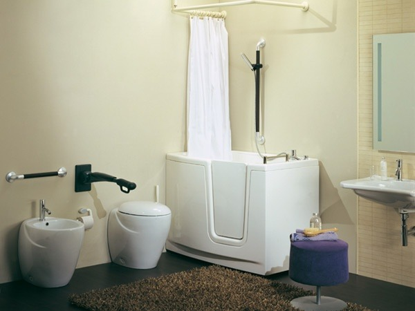 Ambienti bagno disabili anziani classico moderno design - Progetto accessori bagno ...