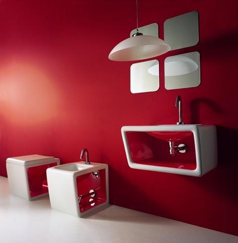 Mobili bagno design eleganza allegria divertimento - Arredo bagno colorato ...