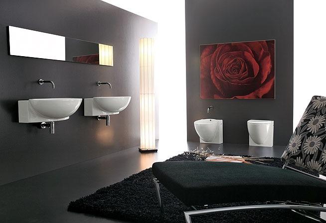 Mobili bagno moderno essenziali geometrici eleganti for Foto arredo bagno moderno