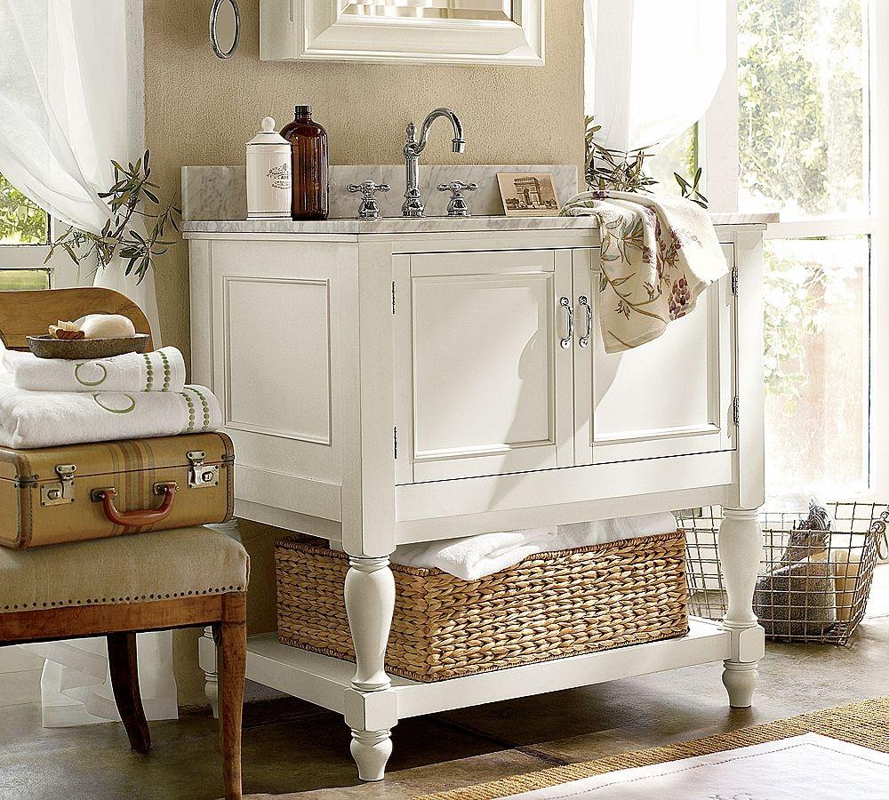 mobili da bagno shabby chic: bianco, anticato