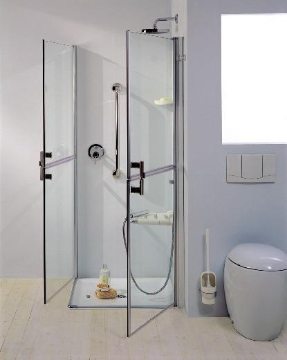 Doccia bagno disabili anziani apertura maniglie seduta - Bagno disabili con doccia ...